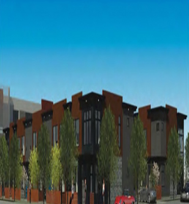 Permits submitted for three townhomes as part of High Street Townhomes project