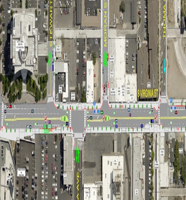RTC Votes to Keep Median, Wider Sidewalks in Midtown Narrow Section